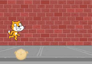 Scratch - Create a jumping game